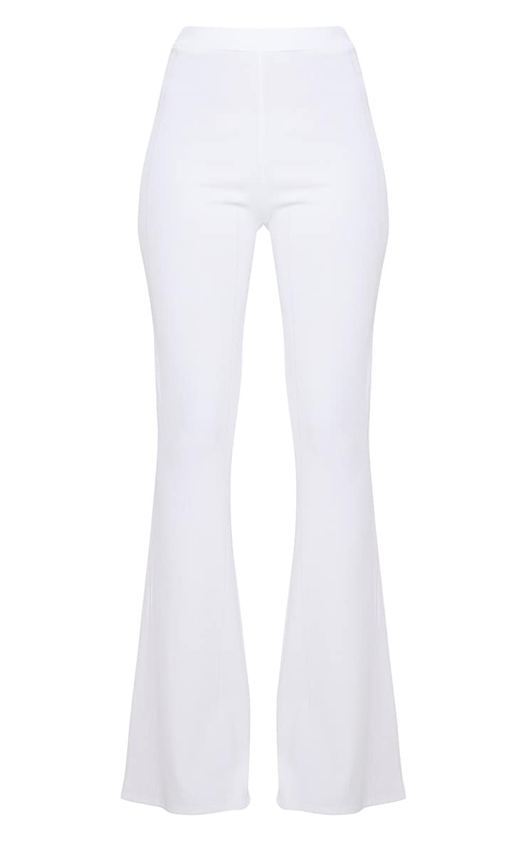 White Bandage Flared Trouser 3