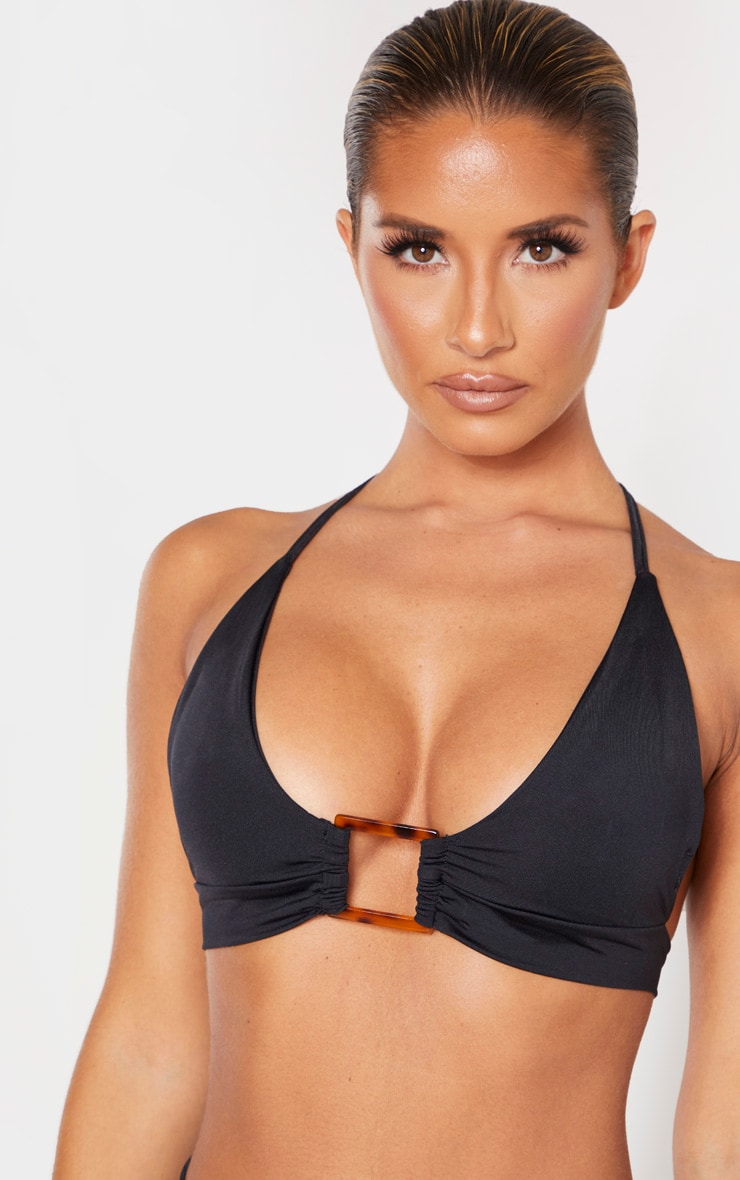 Black Square Tortoise Ring Bikini Top 5