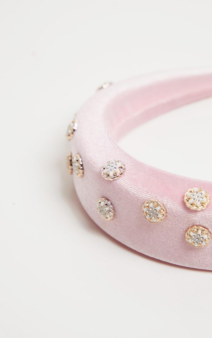 Pink Embellished Alice Headband 3
