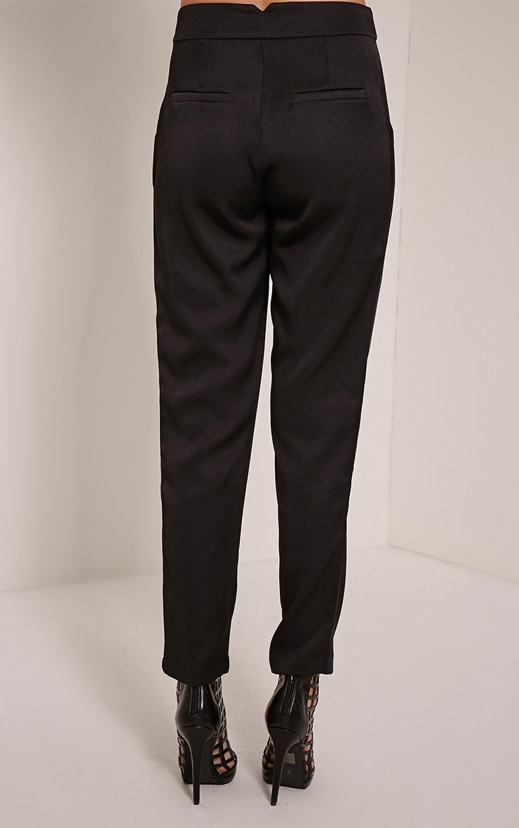 Floss Black High Waisted Tapered Trousers 4