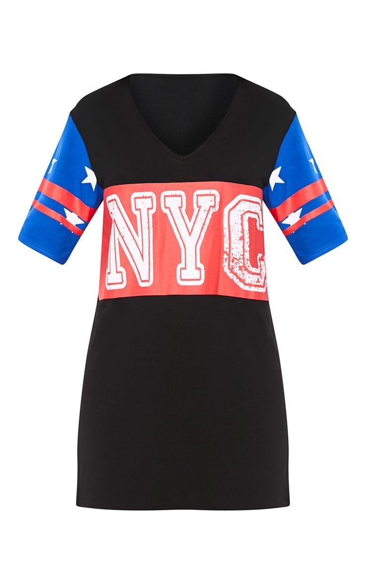 Black NYC Star T Shirt Dress 3