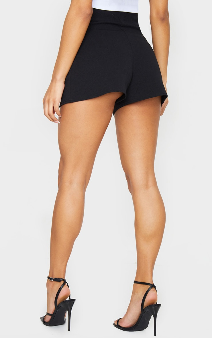 Black Lace Up Tailored Shorts 3