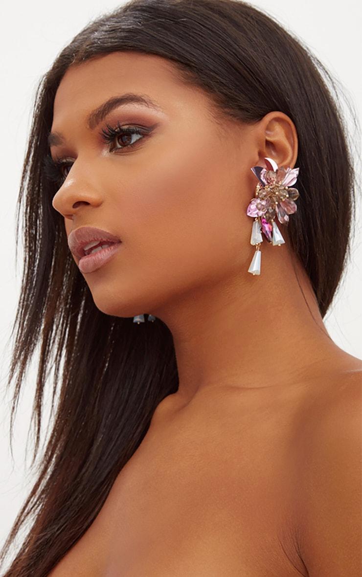 4374d962c22e Boucles d oreilles imposantes bijoux et fleurs   PrettyLittleThing FR