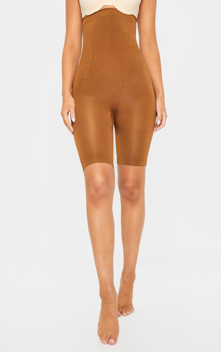 Brown Bum Lift Shapewear High Waisted Short 2