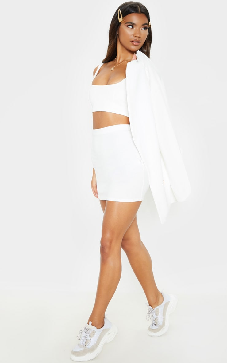 White Mini Suit Skirt 5