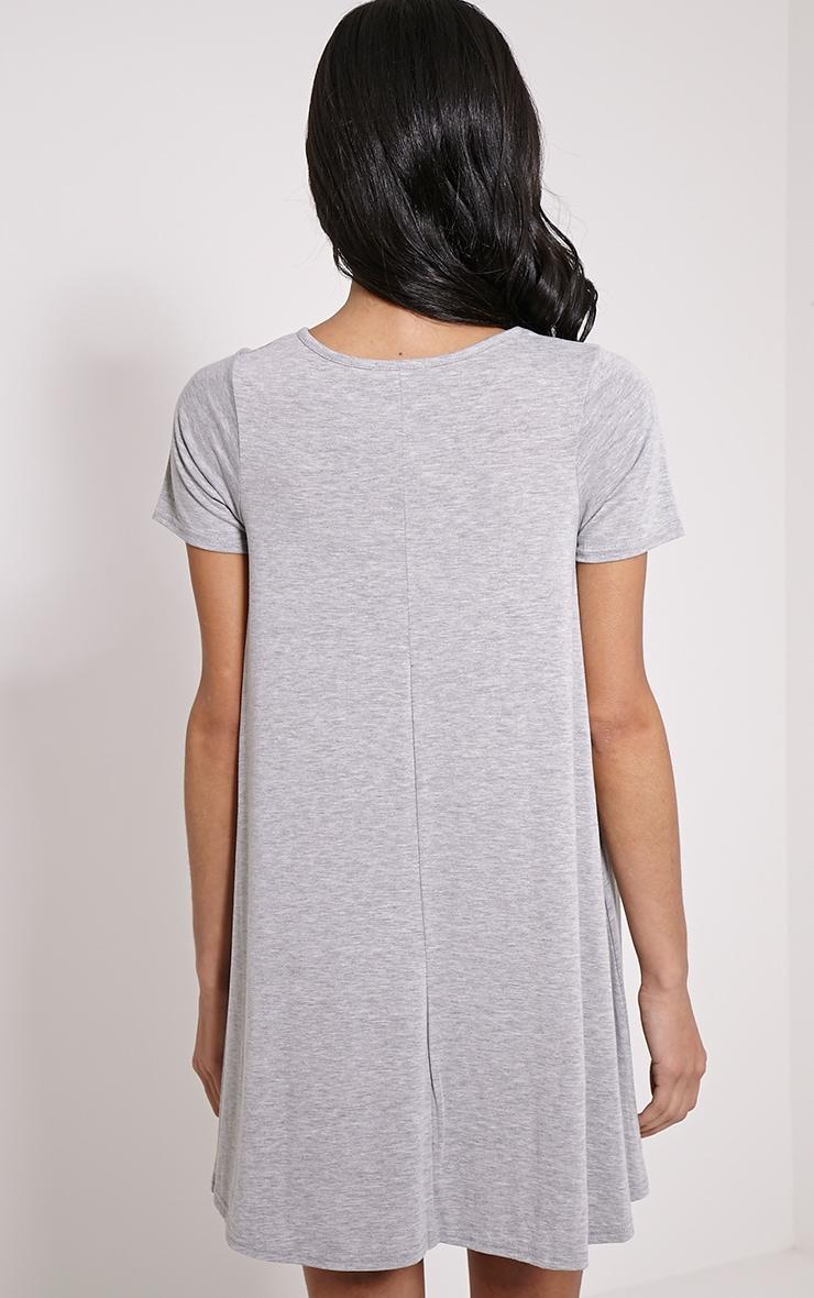 Basic Grey Jersey Swing Dress 2