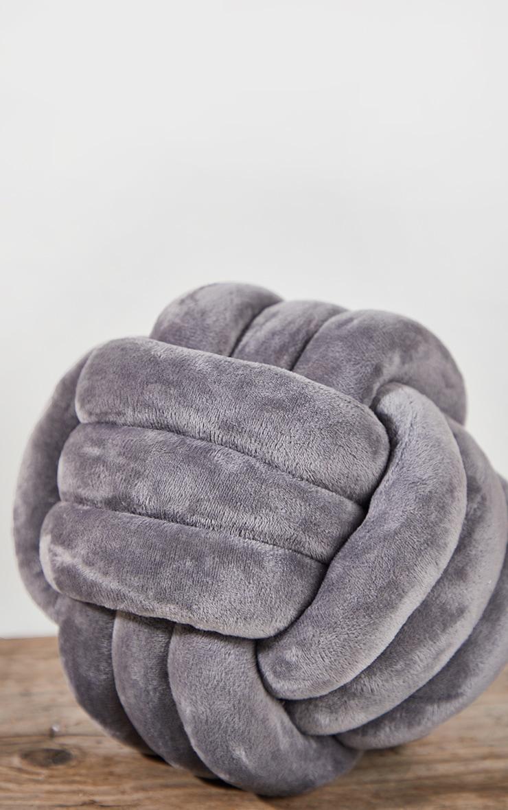 Grey Knot Cushion 5