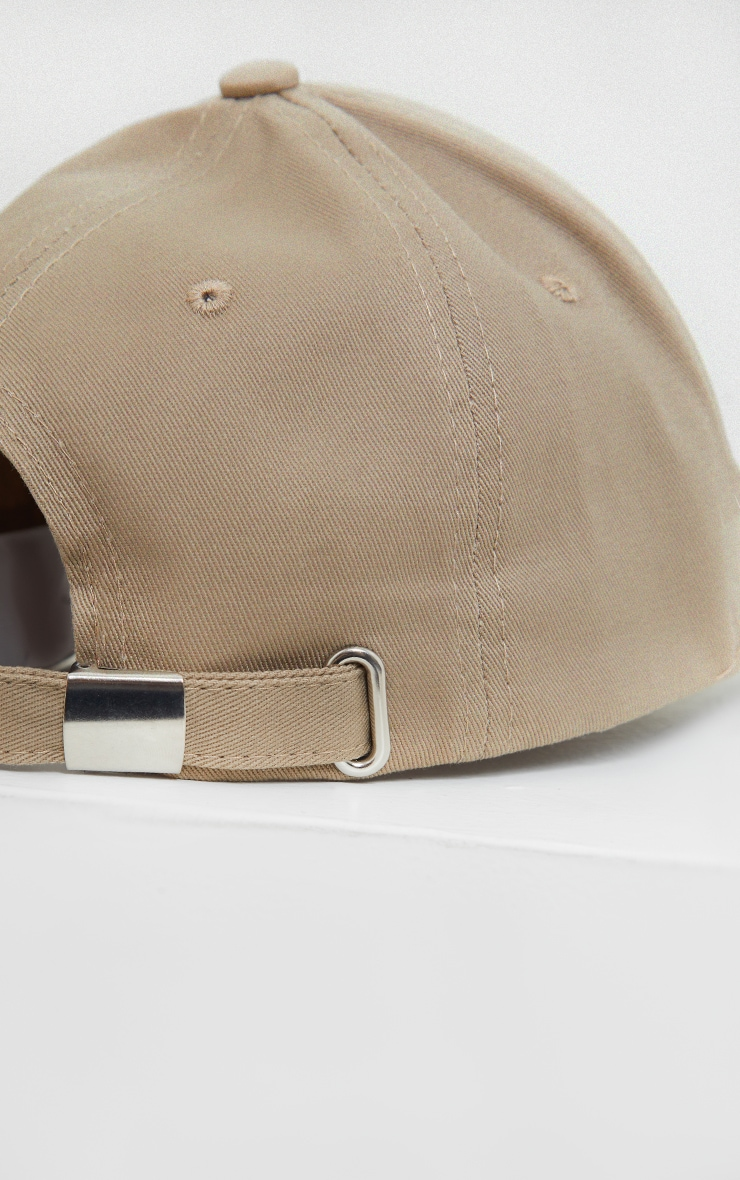 PRETTYLITTLETHING Taupe Sports Cap 3