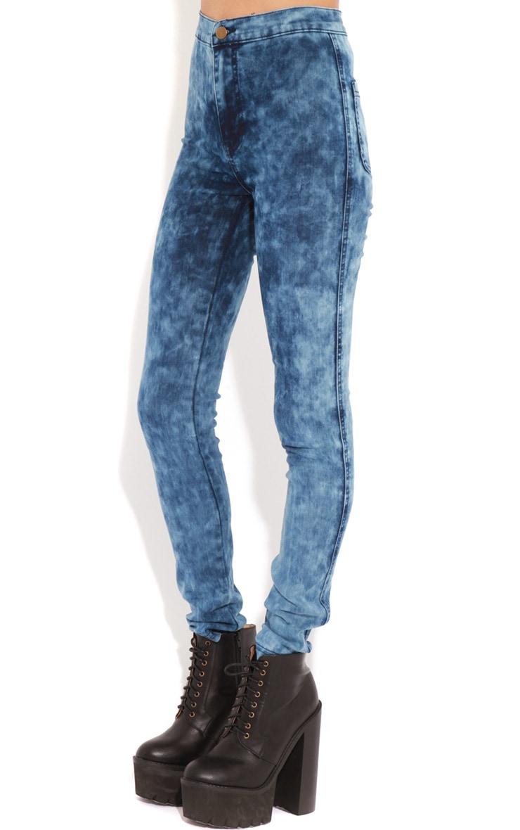 Annie Indigo Tie Dye Jeans 4