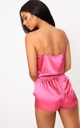 Hot Pink Satin Pyjama Shorts Set image 2 15513b3e5