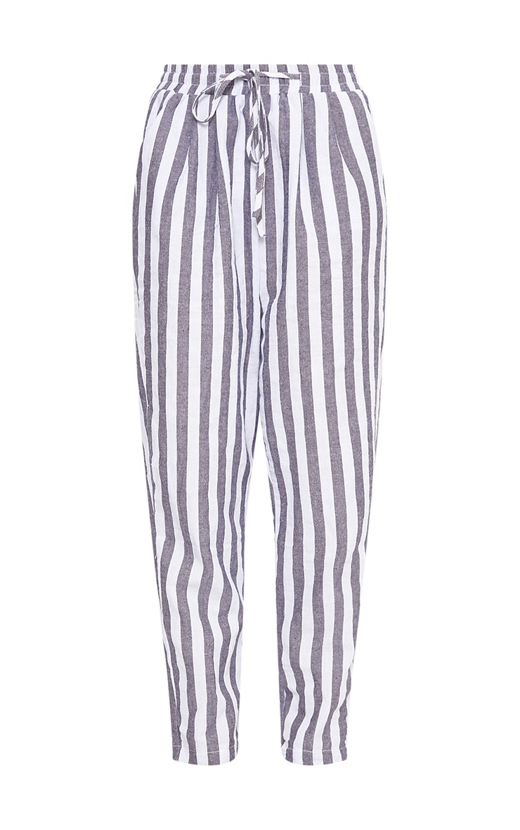 Diya Blue Stripe Casual Trousers 3