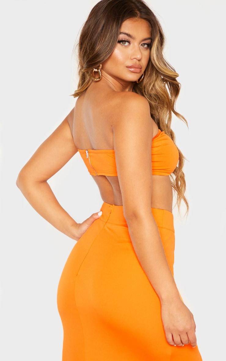Orange Bandeau Crop Top 2