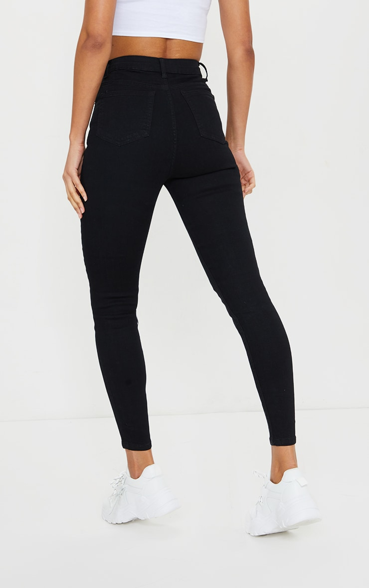 PRETTYLITTLETHING Black 5 Pocket Skinny Jean 3