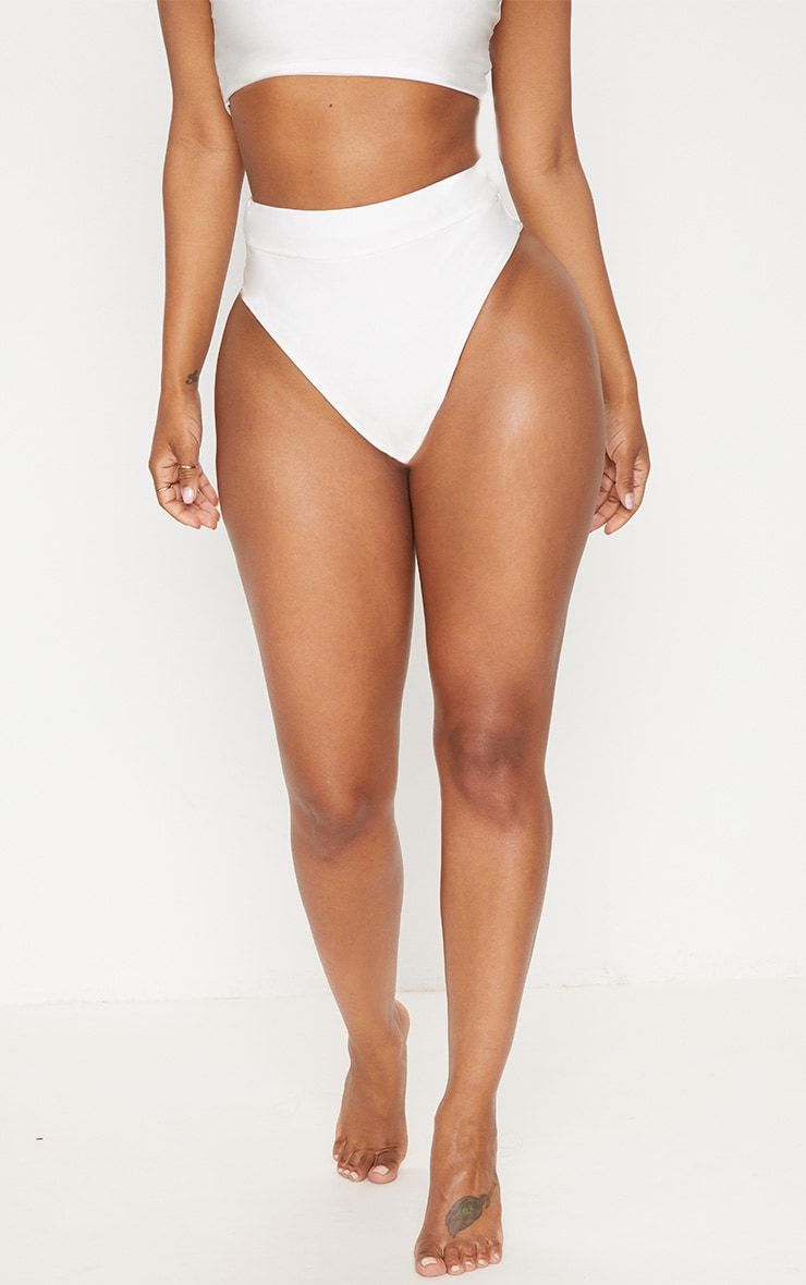Shape White Extreme High Leg Bikini Bottom 2