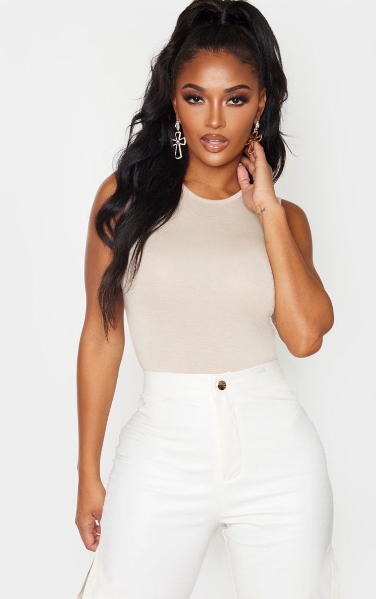 Shape Stone Jersey Sleeveless Bodysuit 1