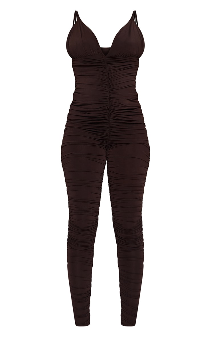Maternity Chocolate All Over Ruched Jumpsuit 5
