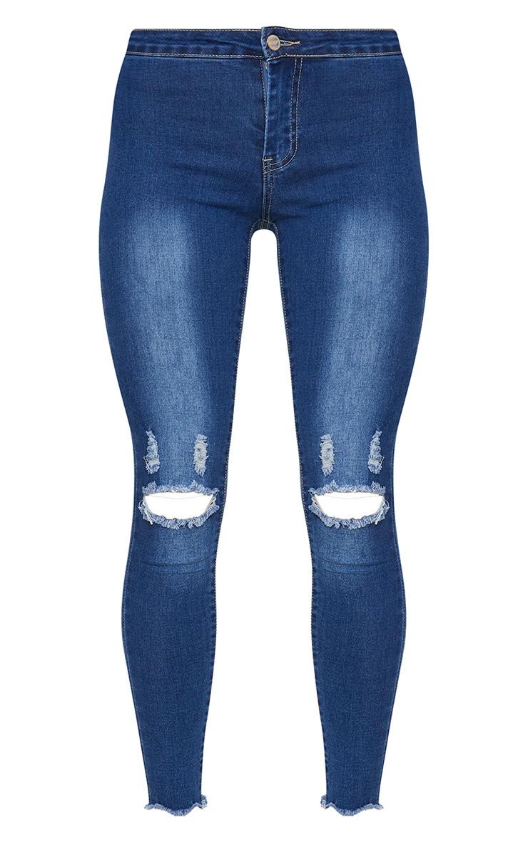 Mid Wash Skinny Jean  3