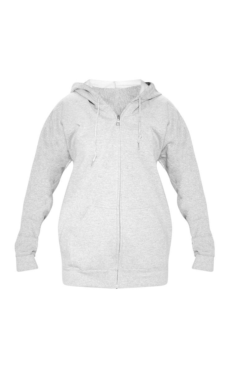 Grey Marl Zip Hoodie 3