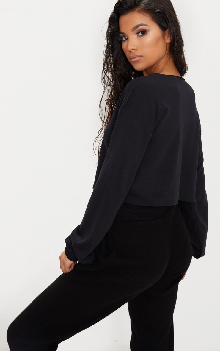 Black Zip Front Sweater  2