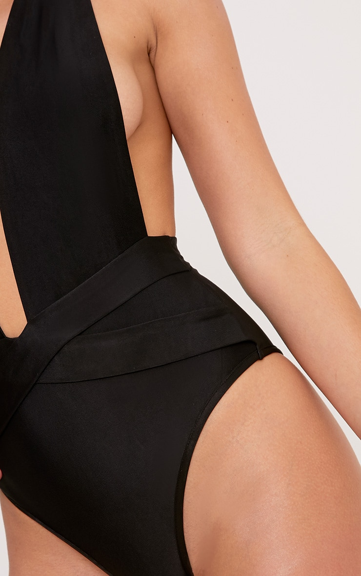 Bethanne Black Wrap Around Front Swimsuit 5