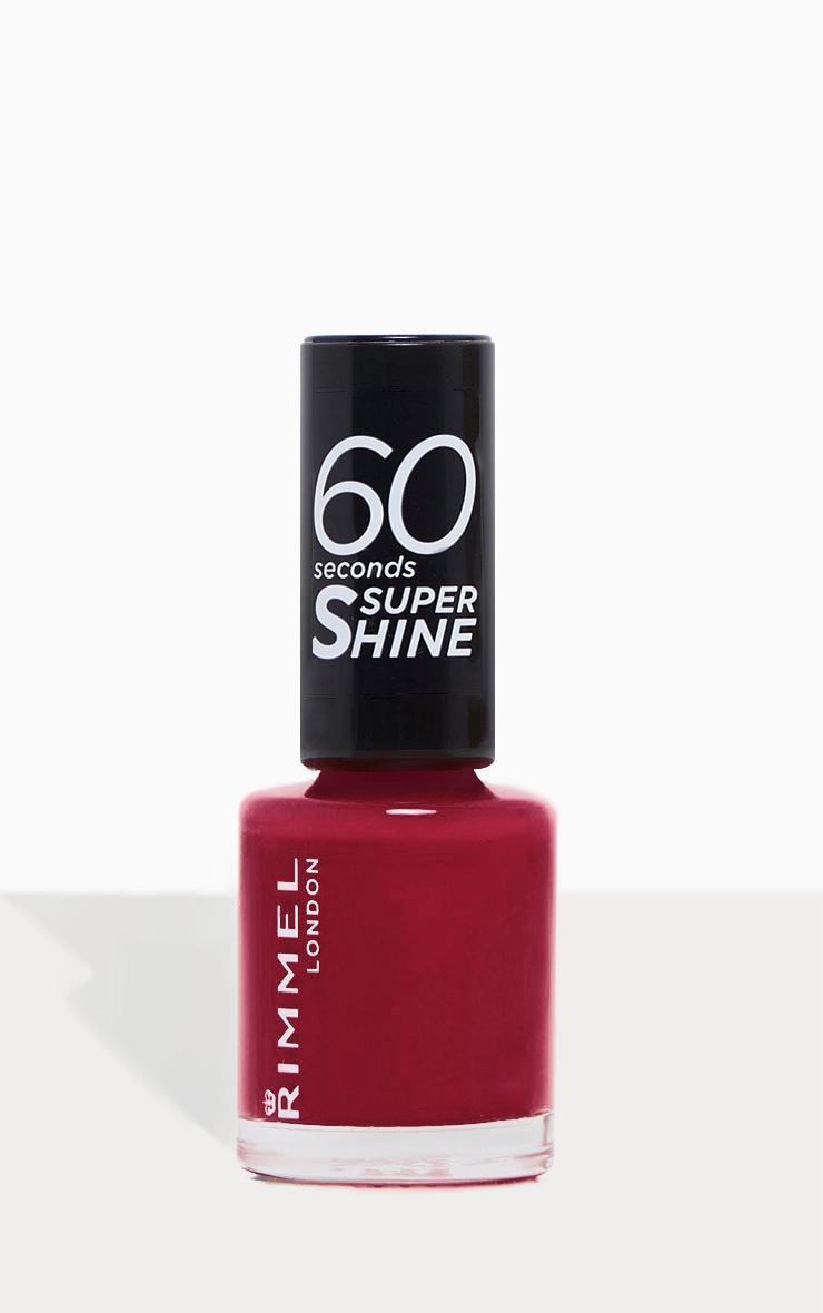 Rimmel 60 Seconds Super Shine Nail Polish Berries And Cream 1