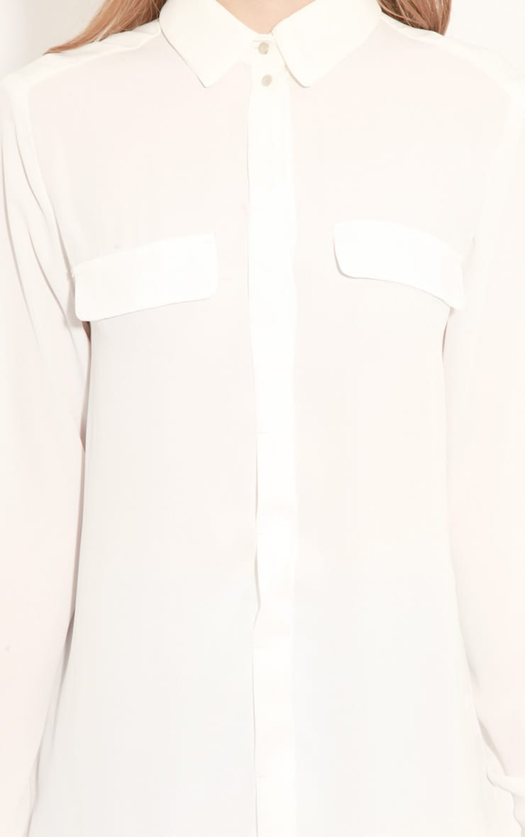 Eboni White Chiffon Shirt 5