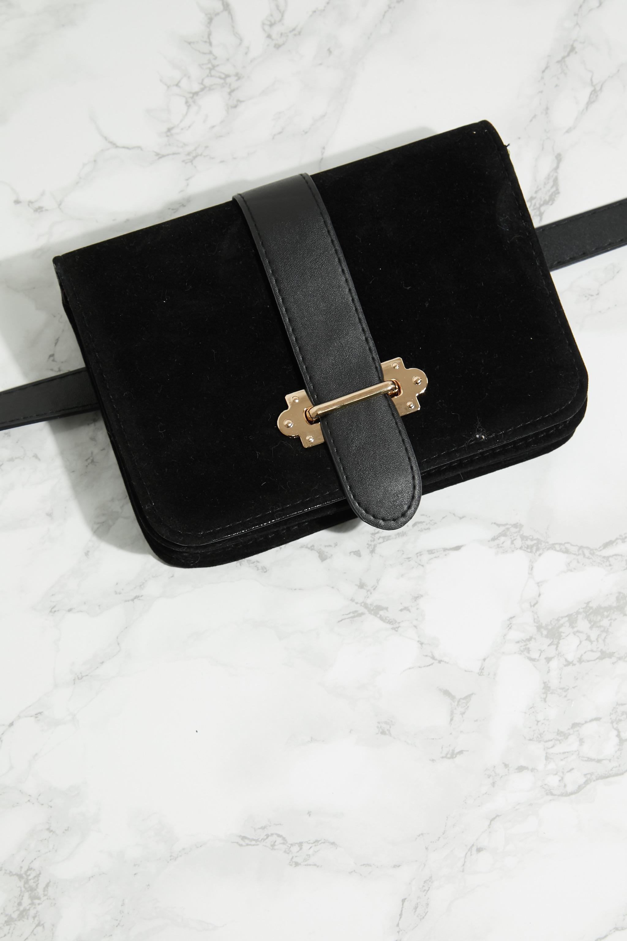 Black Suedette Western Belt Bag 4