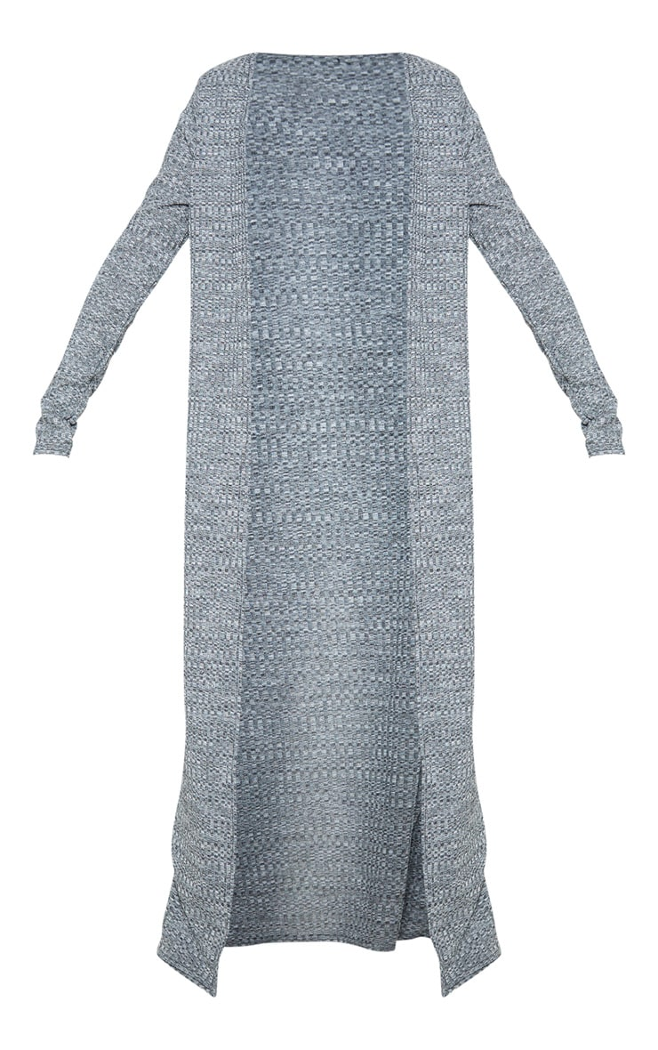Grey Knitted Maxi Cardigan  3