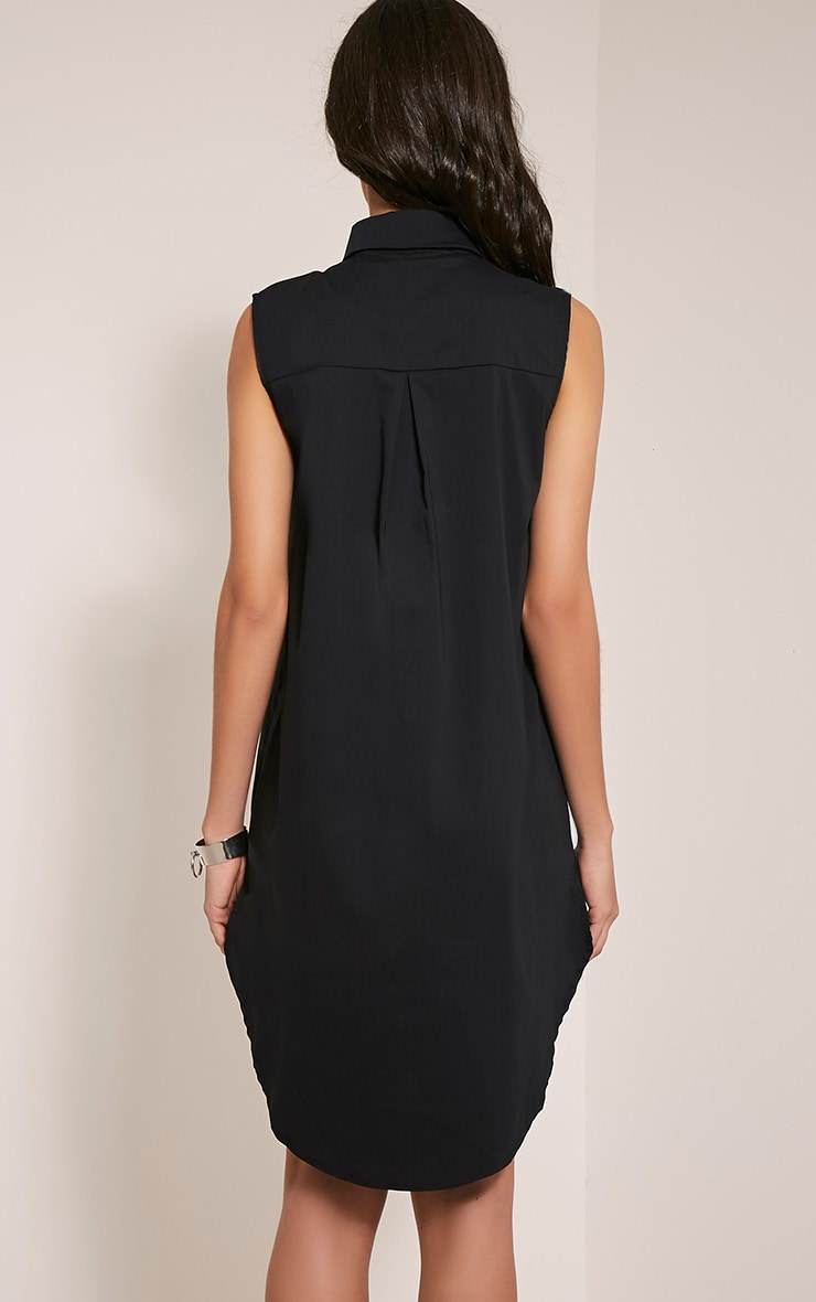 Kaydie Black Sleeveless Shirt Dress 2