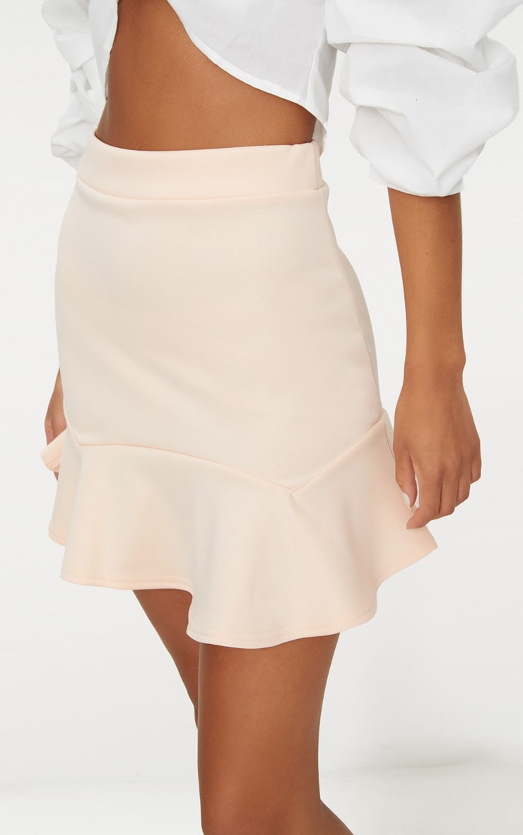 Nude Flippy Hem Mini Skirt 6