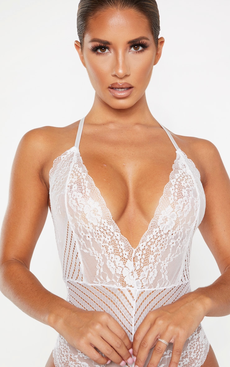 White Mixed Delicate Lace Body 5