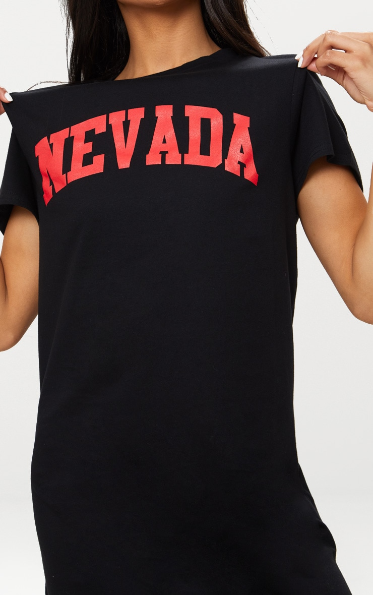 Nevada  Black Oversized T Shirt Dress 5