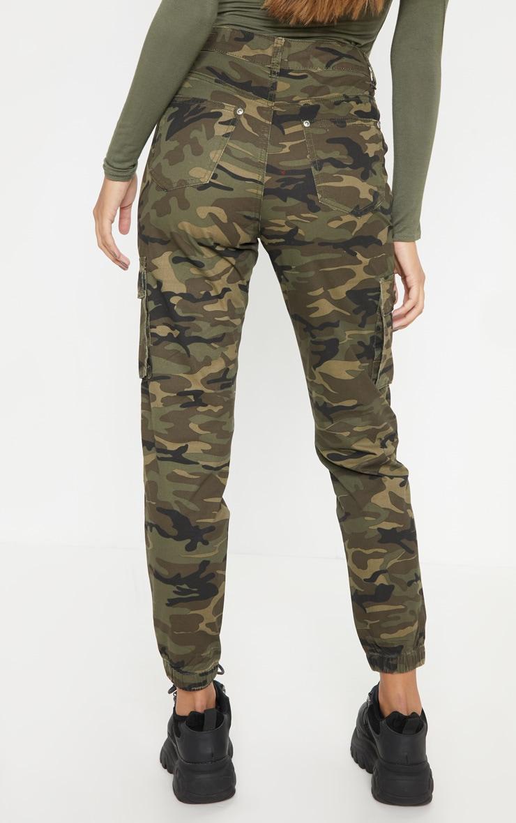 Khaki Camo Cargo Pocket Jeans 3