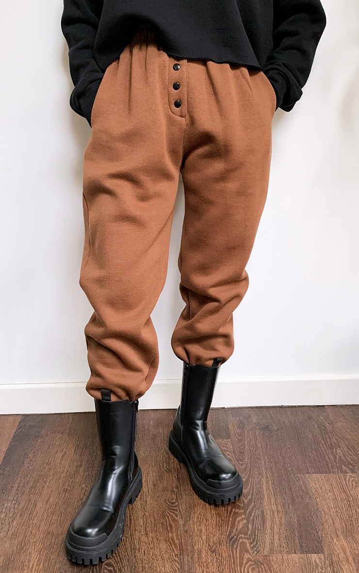 Chocolate Popper Front Joggers 2