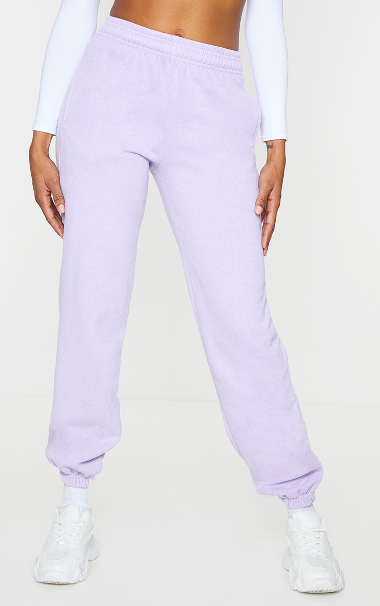 Lilac Washed Effect Casual Joggers 2