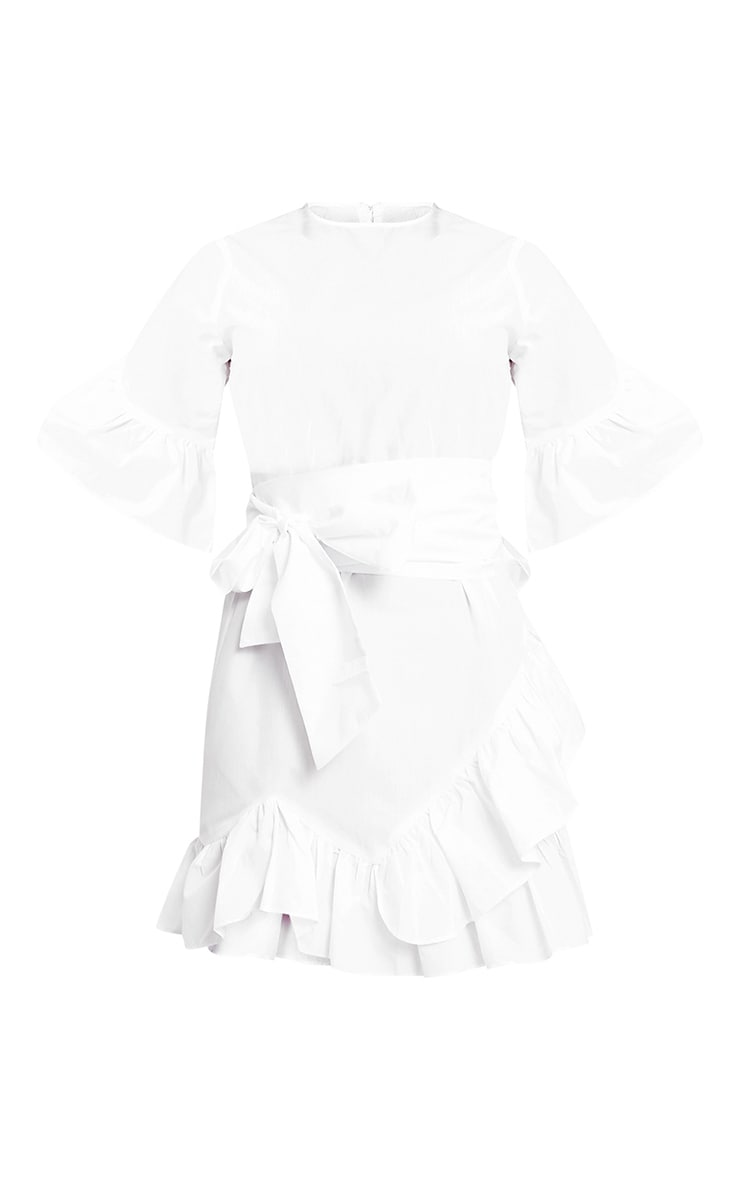 Aaliyah White Frill Detail Mini Dress 3