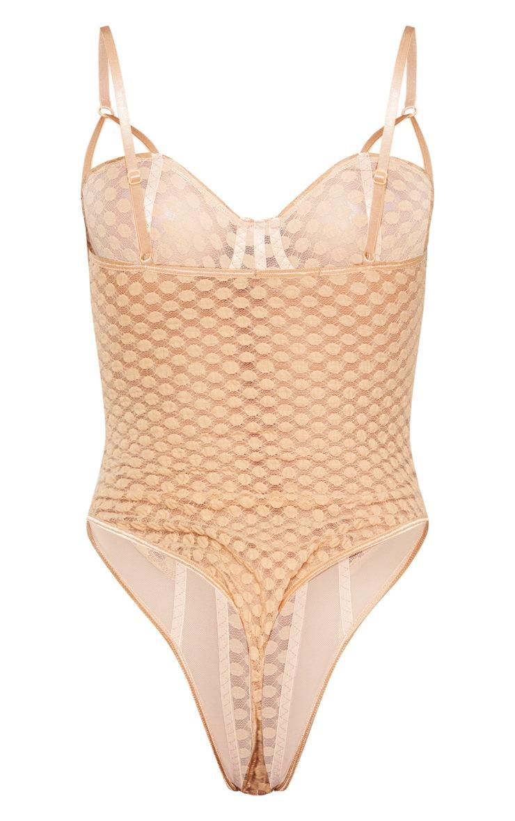 Nude Spot Lace Mesh Insert Body 4