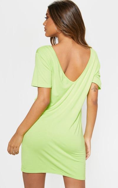 Lime V Neck T Shirt Dress