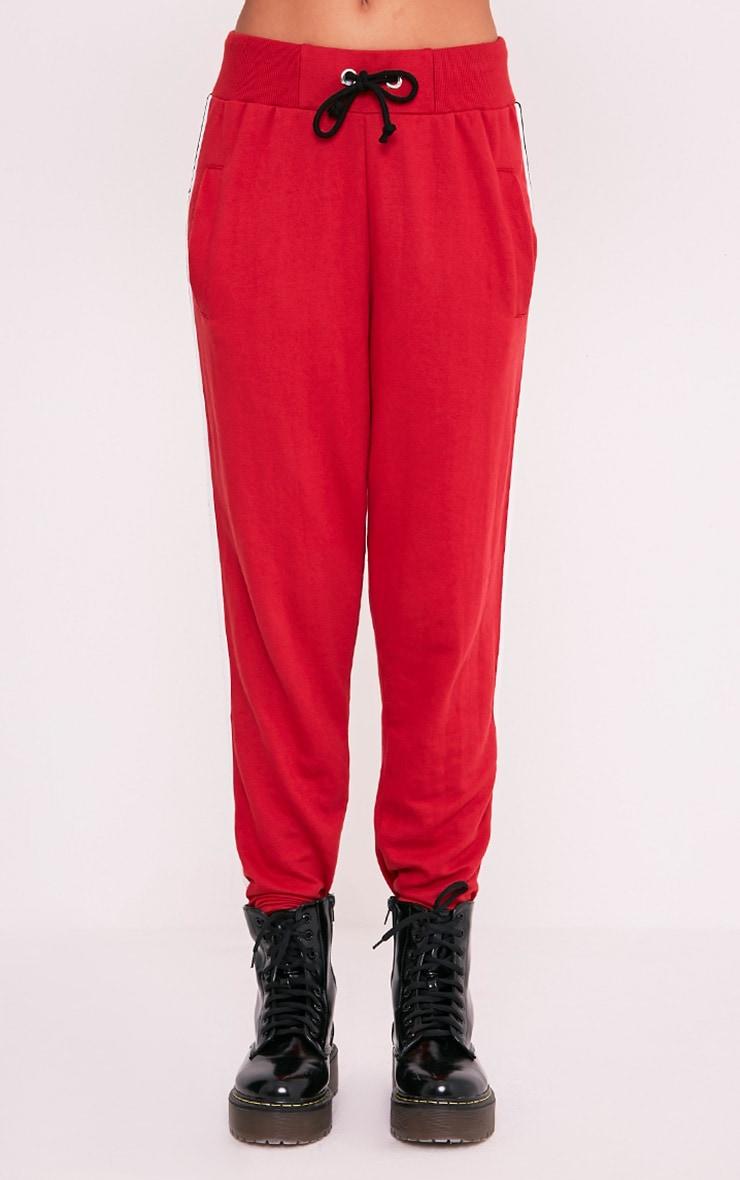 Gwen Red Side Stripe Joggers 2