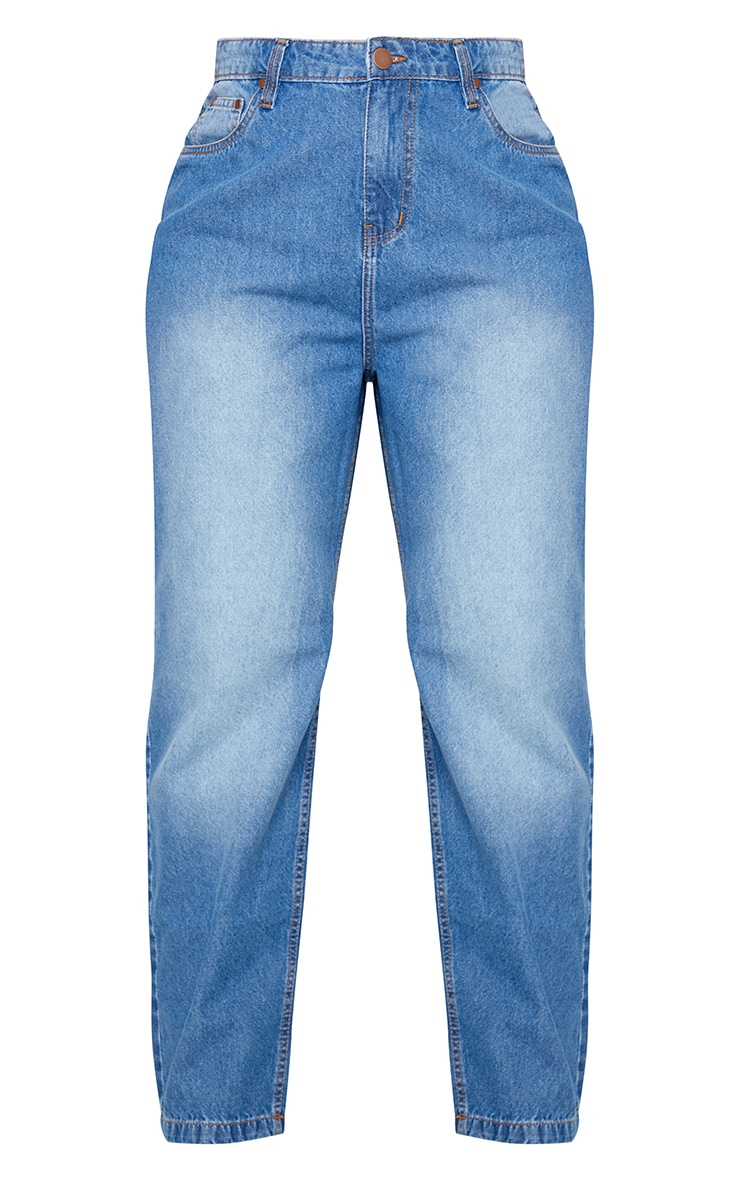 Plus Light Wash Cropped Straight Leg Jean 5
