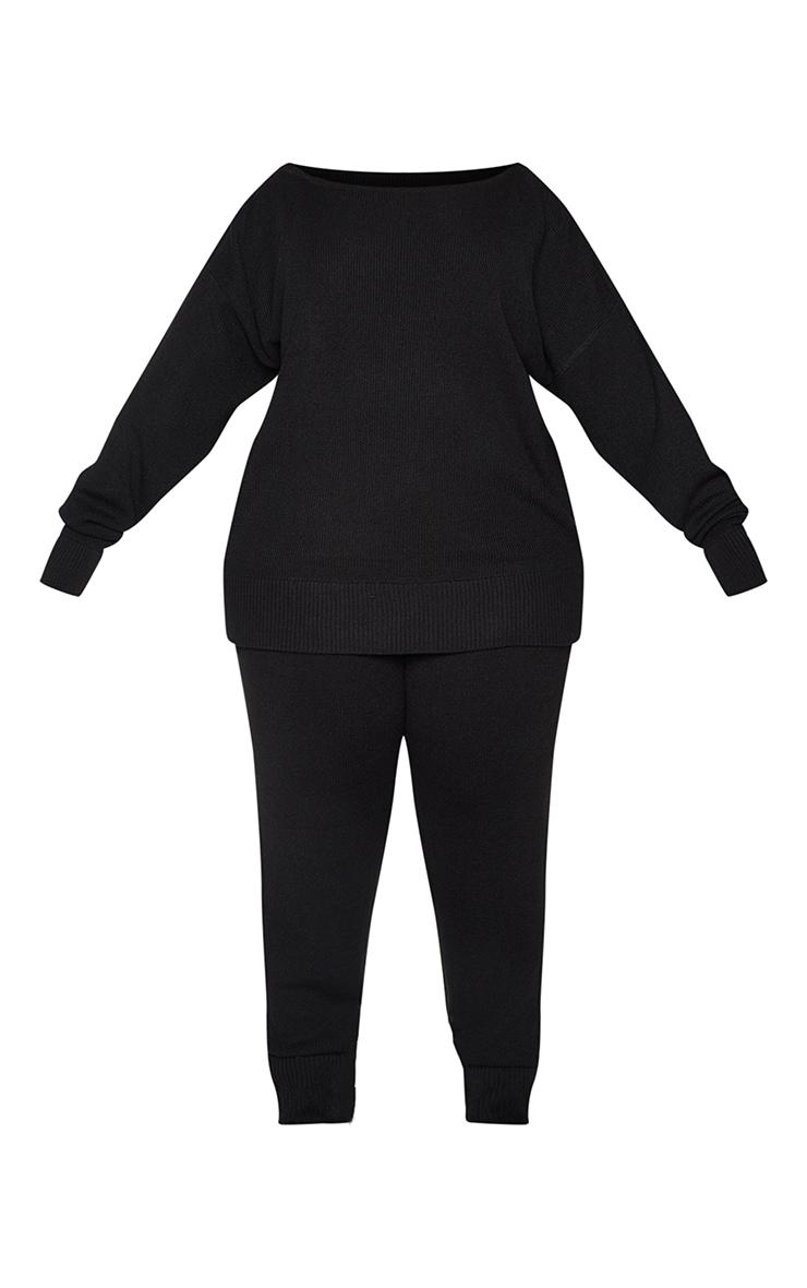 PLT Plus - Ensemble lounge en maille tricot noire 5