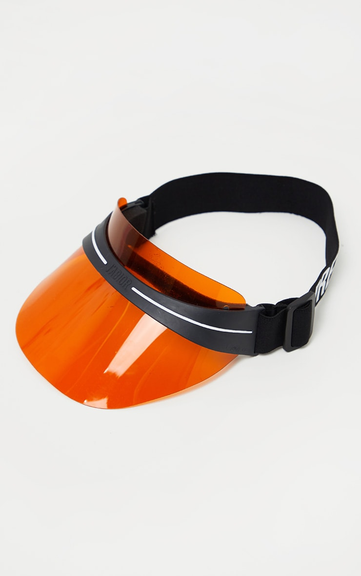 PRETTYLITTLETHING Orange Visor 2