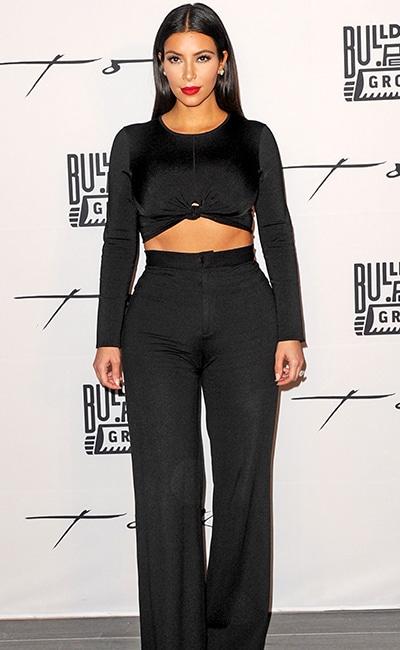 Zafia Black Crepe Palazzo Trousers 2