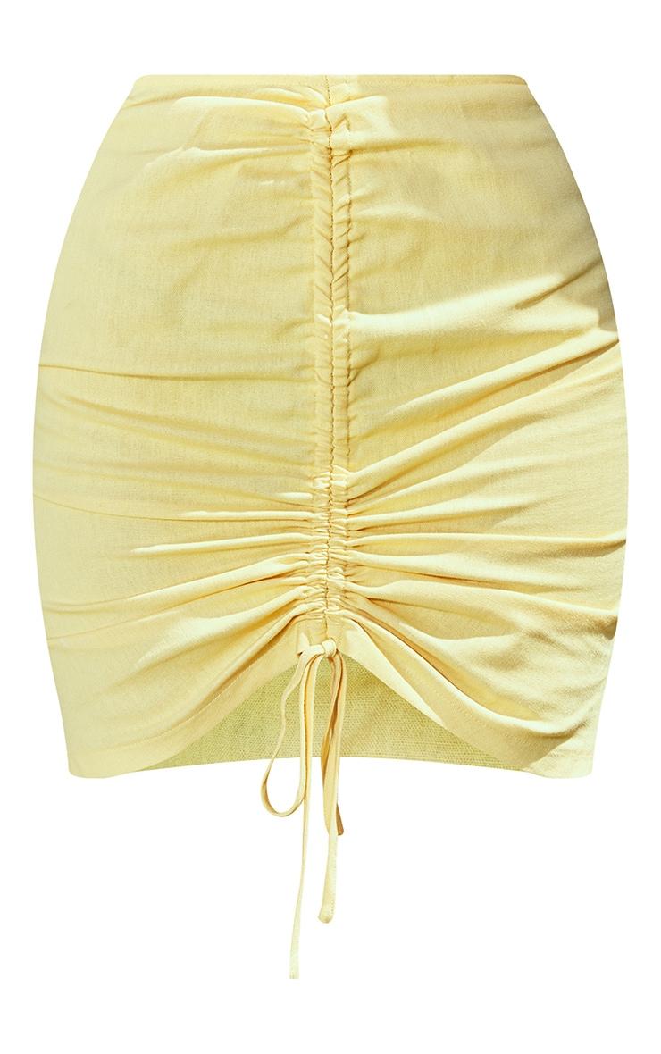 Lemon Ruched Mini Skirt 6