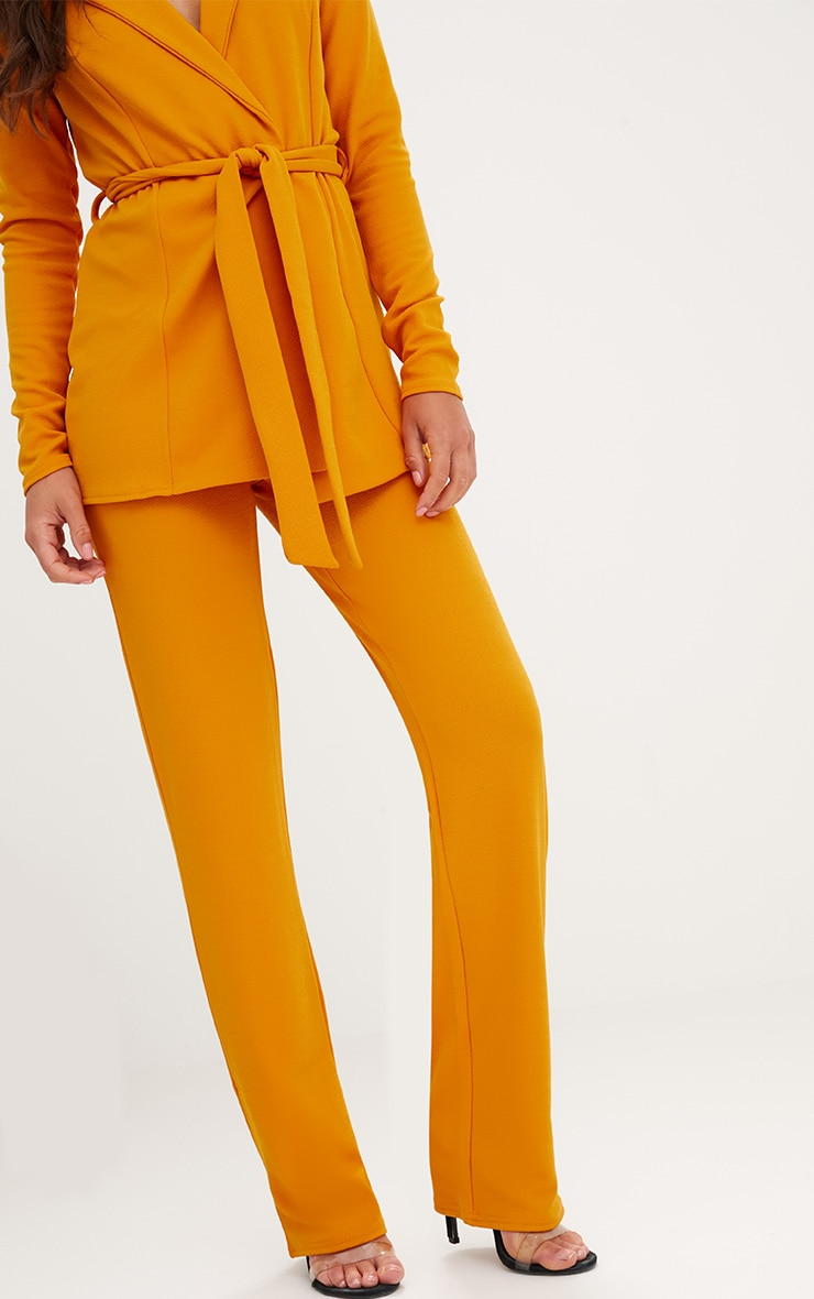 Mustard Straight Leg Suit Trousers 5