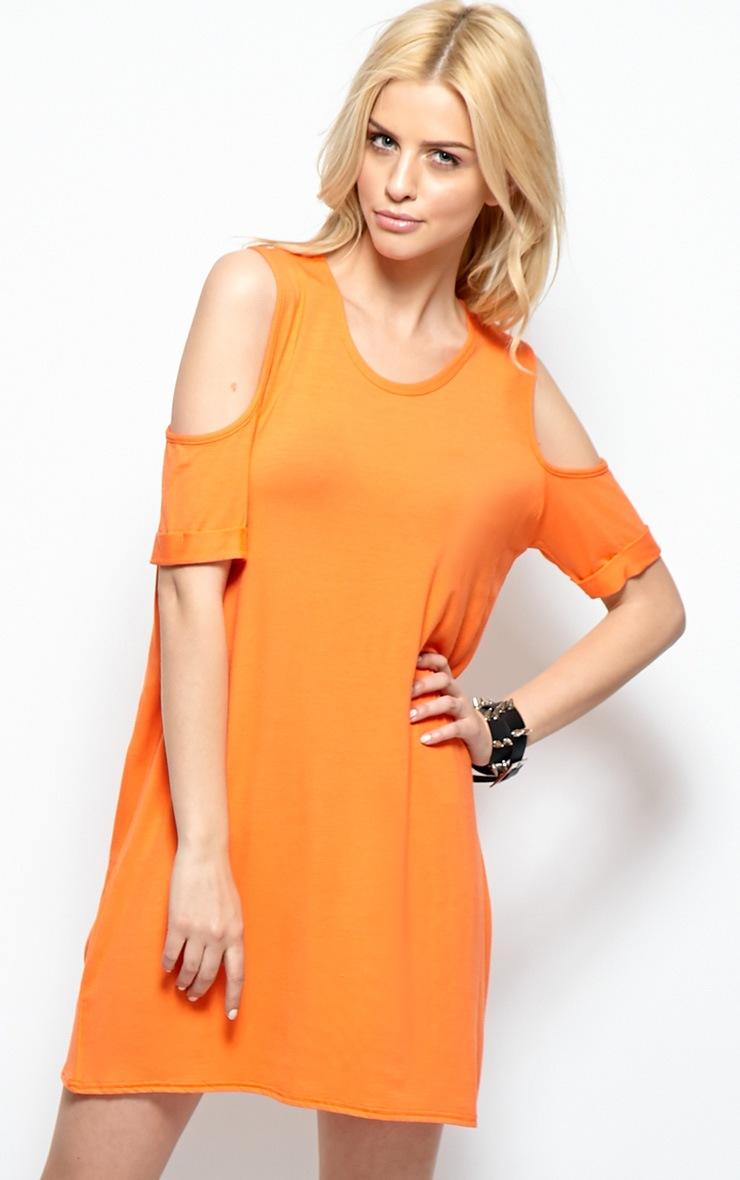 Mahlee Orange Cut Out Shoulder Top 3