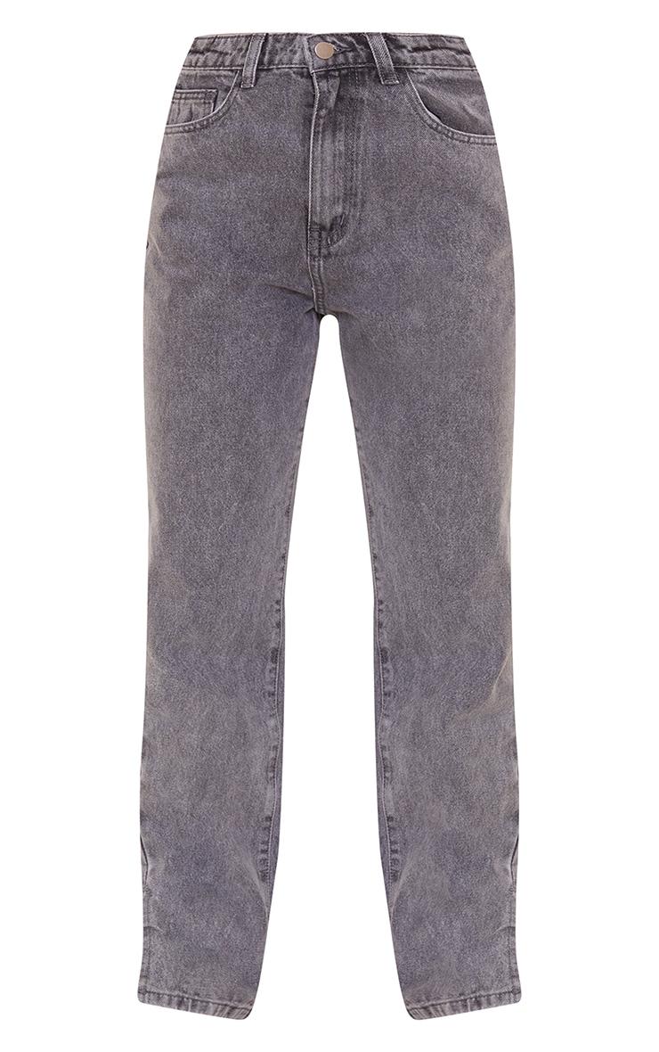 Petite Grey Wash Split Hem Jeans 5