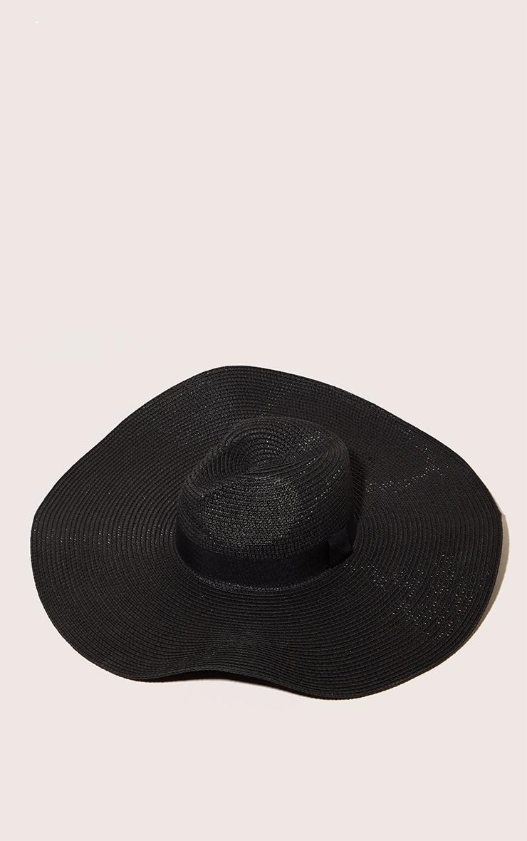 Black Wide Band Oversized Fedora 3