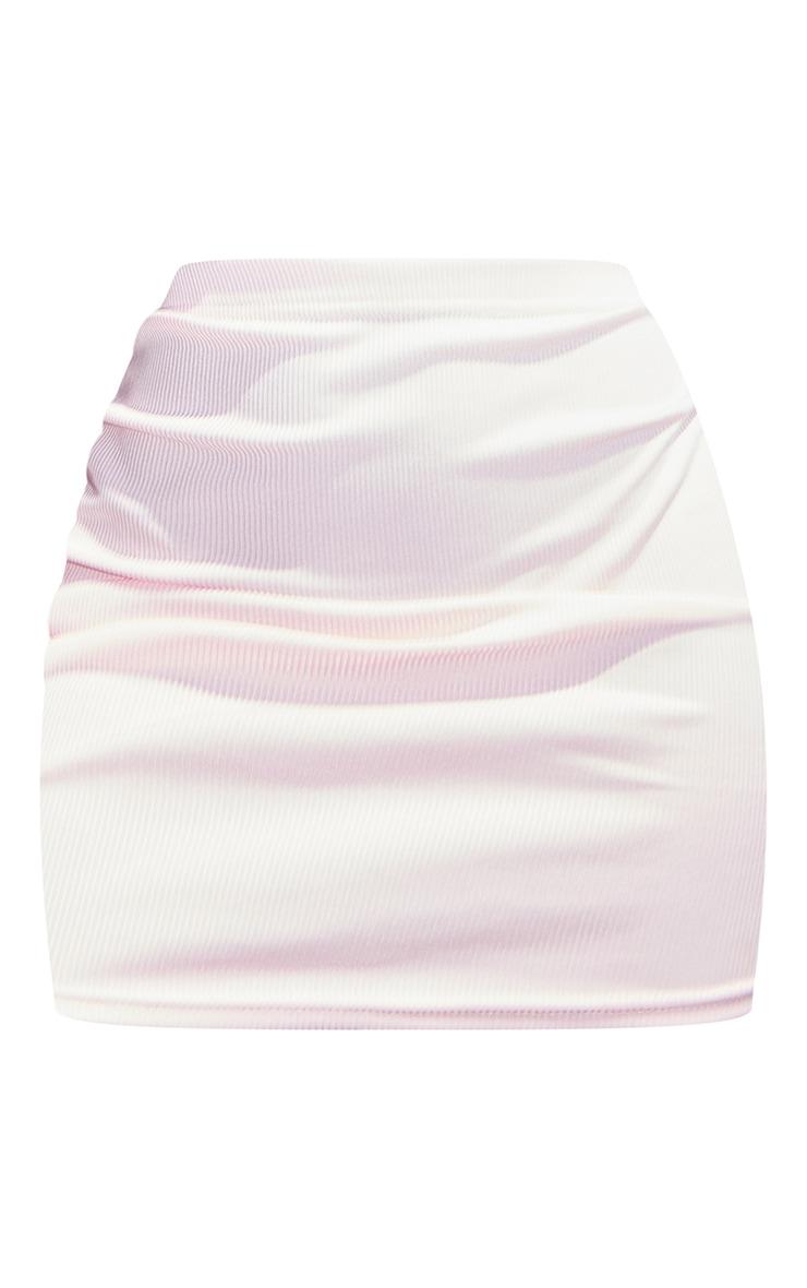 Shape Baby Pink Rib Bodycon Skirt 5