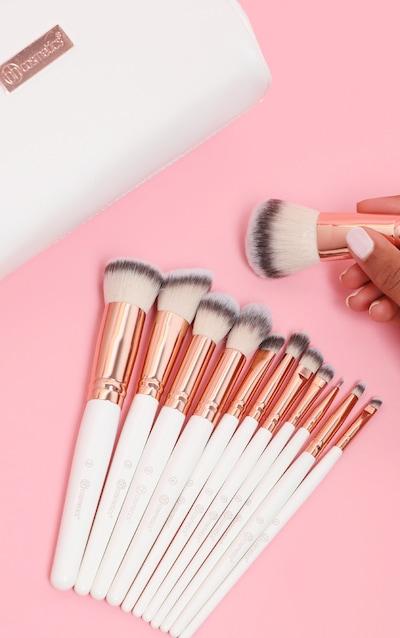 BH Cosmetics Rose Romance 12 Piece Brush Set with Bag